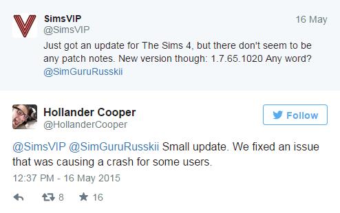 The Sims 4/Обновление №19