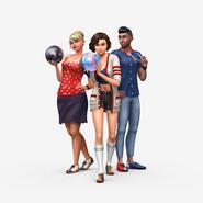 Sims4 Noche de Bolos render1