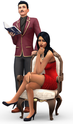 Mortimer and Bella Goth in The Sims 4.png