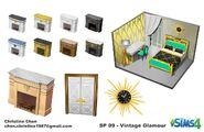Sims 4 Glamour Vintage Arte Conceptual 1