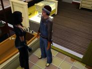 Clark talks with a CAS