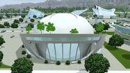 Арена ботов, Современная аркология (Задний фасад)