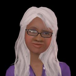 Rosa Curioso proyectada en Los Sims 3 hacia Los Sims 2