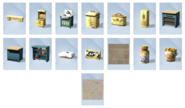 Sims 4 Cocina campestre Objetos