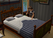 Maid making the Urbans bed - outtake