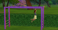 TS4 child playing on monkey bars