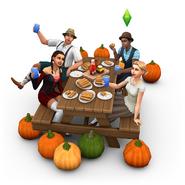 Spooky stuff celebrating oktoberfest