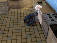 Clark Sauer repairing a dishwasher