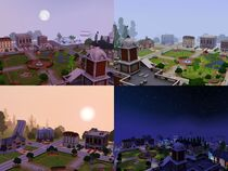 Sunset Valley through the day