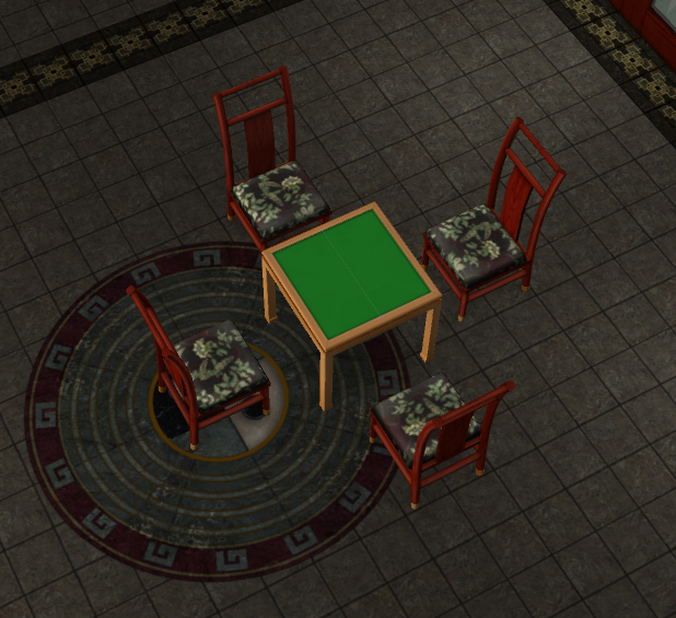 Four Blessing Mahjong Table