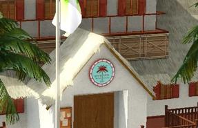 Sunlit Tides city hall symbol