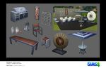 Les Sims 4 Ambiance Patio Concept art Virgil Serrano
