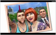 Selfie TS4 with obama at backrounds