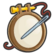 The skill icon for the Cross-Stitch skill from The Sims 4: Cottage Living.