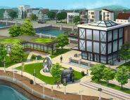 Modern Downtown concept art
