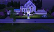 Saint Mansion at night