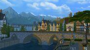 Windenburg bridge and mountains