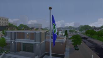 Police station flag