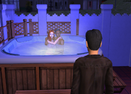 Darren catching Carly and Toby in the hot tub