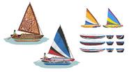 Island Living Canoes concept art