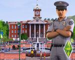 Les Sims 3 Fond d'écran Hôtel de ville 1280x1024