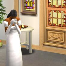 Olvido es plantada en el altar.jpg
