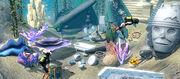 Sims underwater