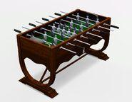Miniaturized Soccer Foosball Table