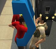 Serge getting slapped by Cody through a pay phone