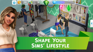 The Sims Mobile screenshot 4 'Shape your Sims' lifestyle'