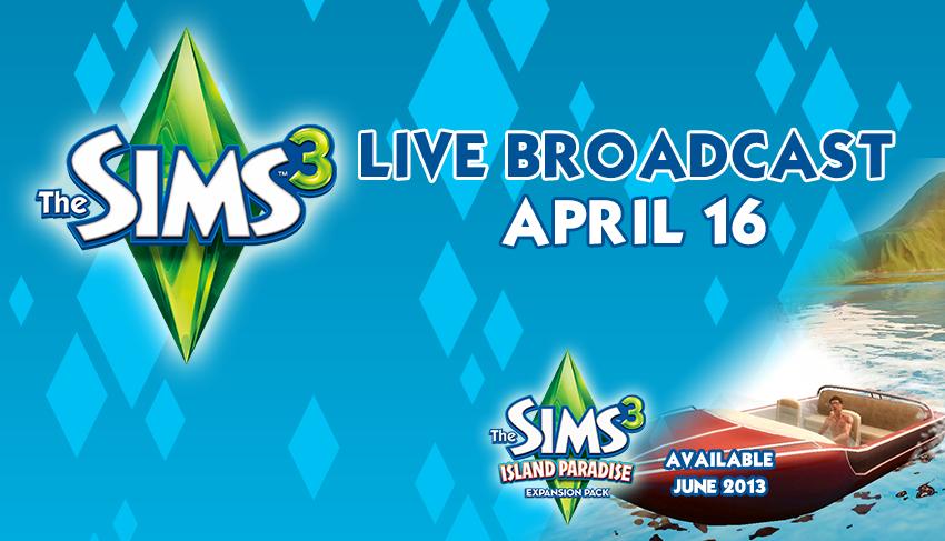 Vínci/Анонс: Видео-чат с разработчиками The Sims 3 Райские Острова
