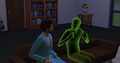 TS4 two adult Sims chatting