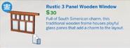 Rustic Panel Wooden Window