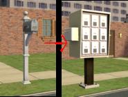 Ts2 custom apartment gg - apartment mailbox transformation