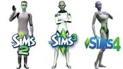 ♦ Sims 2 vs Sims 3 vs Sims 4 Aliens