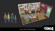 Créez un kit Les Sims 4 - Atelier douillet