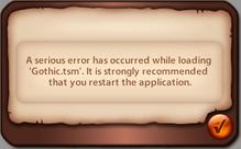 TSM Load game error