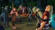 TS3 supernatural zombies attack