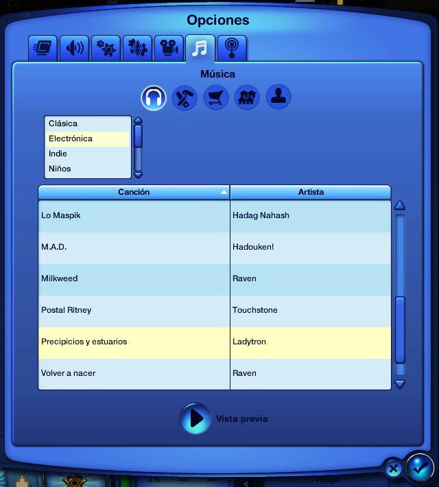 Canciones de Los Sims 3