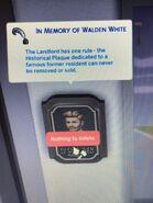 Walden White 18 Culpepper House Plaque