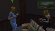 Jackie being told about the pregnancy