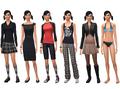 Cassandra Goth ts4 wardrobe