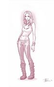 TS4 female Sim concept art