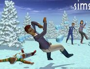 Sims1VacationSnowballFight