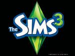 Les Sims 3 Fond d'écran Noir Logo 1024x768