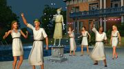 Sims greek party