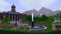 Sunset Valley city hall view
