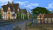 Windenburg bridge and homes