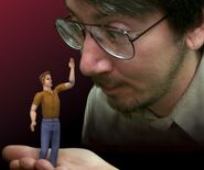 Will Wright and a Sim