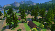 Granite Falls campground from the woods